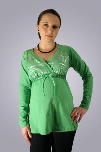 Bluza gravide de bumbac 1 - fata