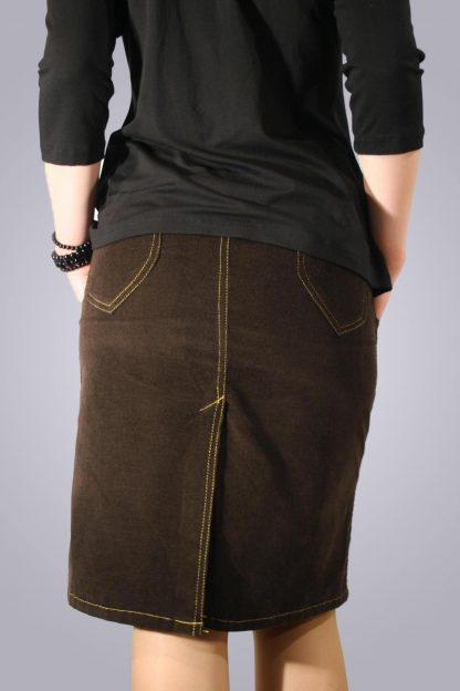 Fusta gravide de jeans 1 - spate