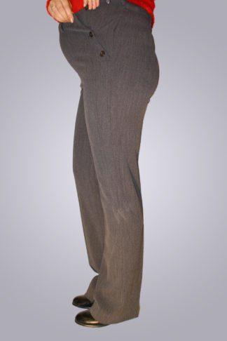 Pantaloni gravide cu nasturi 1 - lateral