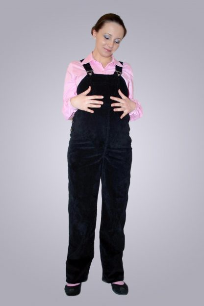 Salopeta gravide de jeans 2 - fata