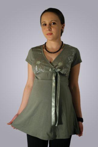 Bluza gravide de bumbac 3 - fata
