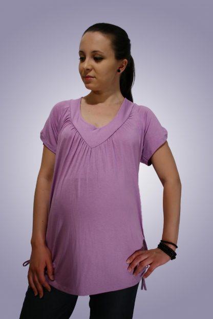 Bluza gravide de bumbac 8 - fata